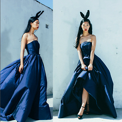 Cissy Zhang - Lobelia Couture Blue Dress - Down the rabbit hole
