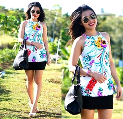Maylene Salandanan - Missguided Halter Top, Forever New Tote, Cotton On Pencil Skirt - It's Summer in Australia!