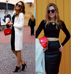 Coco Bolinho - Forever New Skirt, Forever New Cardigan, Forever New Bag, Forever New Necklace, Chic Wish Shades, Jessica Buurman Heels - Not everything is black and white