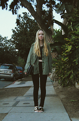 Stacey Belko - American Eagle Outfitters Jacket, Kill City Jeans, Choies Sandals - A stroll through hollywood.