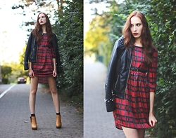 Ola Ci - Frontrowshop Tartan Dress, Diy Jacket - Come As You Are