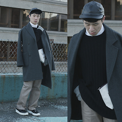 Marchel Creative - American Apparel Cap, Kit + Ace Turtleneck, Boutique Sweater, Premium Overcoat, Vintage Leather Pants, Prada Shoes - Just Can't Do Without You