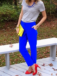 Michelle Orsi - Francesca's Necklace, Stateside Shirt, Kate Spade Bag, Tinley Road Pants, Sjp Heels - A chic moment