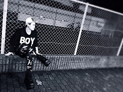 Ito Kaito - Boy London Cap, Boy London Big T→Shirt, Boy London レギンス, Demonia シューズ - # BOYLONDON