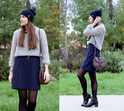 Clémence A Kutch Life - Way Sailor Cap, American Vintage Mohair, Asos High Waisted, Balsamik Chelsea - Blue Mood