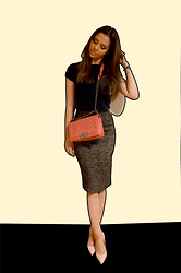 Jans Purple Headline - Dolce & Gabbana Tweed Skirt, Chanel Boy Bag - Tweed Skirt