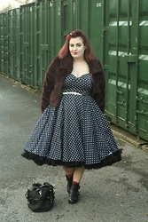 Jodie Marie Davey - Vivien Of Holloway Dress, Vintage Jacket, River Island Boots, Gucci Bag, New Look Belt - Polka dotty