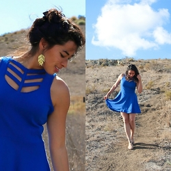Christine T - Shop Indigenous Fair Trade Blue Chevron Dress - Casually Fair Trade