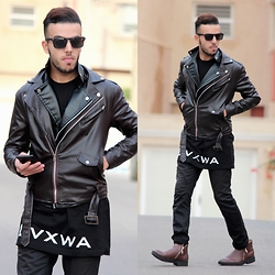 Faissal Yartaa - Tinydeal Faux Leather Purity Casual Fashion Punk Coats & Jackets Nmj 150481, Tinydeal British Style Winter Office/Formal Casual Purity Men 'S Shoes Dsh 350378 - ROCK STAR