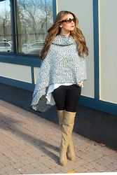 Jenna Poitras - Topshop Wrap, Topshop High Low Top - Jennasfashionscoop Keeping Cozy in Blanket Wraps and capes