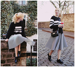 Typhaine - Monki Sweater, Chic Wish Skirt, Topshop Shoes, Asos Bag - Gingerbread Latte