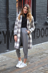 Gemma Talbot - Asos Coat, Uniqlo Polo Neck, Topshop Trousers, Adidas Trainers - Stan Smith