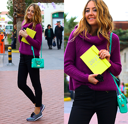 Coco Bolinho - Forever New Bag, Aldo Sneakers, Forever New Pants, Forever New Sweater, Forever New Agenda - I'm a believer that colors affect people's moods
