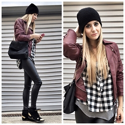Cagil Korkusuz - Zara, Bershka Leather Jacket, Bershka Shirt - 13.12.14