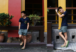 Andre Tan - The Fashion Buddy 101 Pocket Tee, Uniqlo Easy Shorts, Sperry Topsider - Great things come in floral pockets.