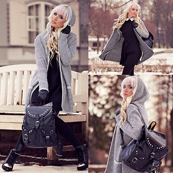 Oksana Orehhova - Romwe Cardigan, Romwe Dress, Legro7 Backpack - SKIPPING CLASS