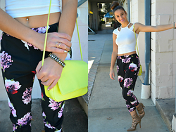 Danielle -  - Sporting Sock and Floral Buns