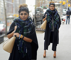 Kavita D - New Look Scarf, Asos Bitten Heels, 7 For All Mankind Jeans - 7 for all mankind