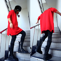 INWON LEE - Byther Knit, Balmain Pants, Byther Boots - Vivid winter outfit