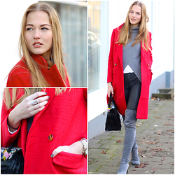Floortje Van Cooten - Asos Coat - THE RED COAT