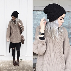 Mary Ellen Skye - Modern Vice Boots, Madewell Jeans, Marc By Jacobs Bag, Free People Shirt, Pylo Sweater - Sweater weather
