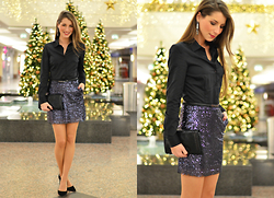 Stephanie Van Klev - Hallhuber Blouse, Mango Skirt, Abro Clutch, Christian Dior Heels - IT'S CHRISTMAS TIME