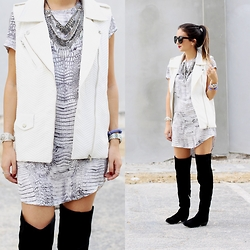 Macarena Ferreira - Blush Boutique Dress, Sam Edelman Boots, Forever 21 Vest - See you later, Alligator