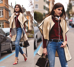 Michèle Krüsi - Ipekyol Cape, Hugo Boss Turtleneck Sweater, Ltb Jeans, Louis Vuitton Bag, Valentino Pumps, Frends Headphone - Best FRENDS 4ever