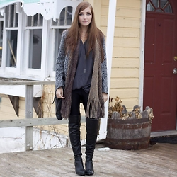 Breanne S. - Steve Madden Odyssey Boots - Speckled Grey