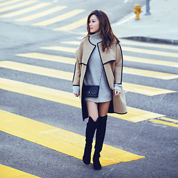 Jenny Tsang - Urban Outfitters Sweater, Topshop Coat, Stuart Weitzman Boots - Cozy Aesthetic