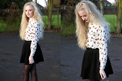 Alix E - Beyond Retro Duck Shirt, Urban Outfitters Skirt - Duck Shirt
