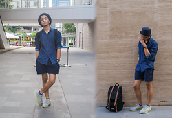 Andre Tan - Uniqlo Denim Shirt, Anta Running Shoes - Mixed up