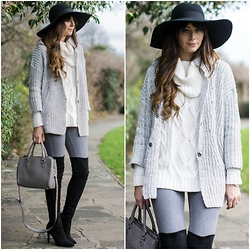 Emma Hill - Next Otk Boots, Lookbook Store Cardigan - Knitted Layers