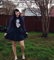 Melissa . - Olaf Sweater, Forever 21 Green Skirt - Olaf is the best!