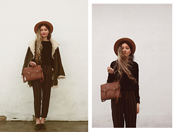 ♡Anita Kurkach♡ - Persun Sweater, Yoins Trousers, Yoins Coat, Asos Loafers, Asos Bag, Choies Hat - Oversize trousers.