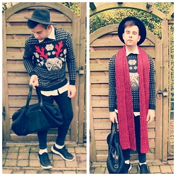 Mitchell Menick - H&M Pug Life, Zara Bag, H&M Hat, Zara Skinny, Primark Runners - Merry christmas to y'all