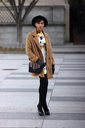 Taylor Brown - Boohoo Camel Wool Coat - Mock Necks and Boohoo