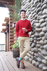 David Guison - Penguin Sweater, Hawkins Shoes, Richer Poorer Socks - Home for the Holidays