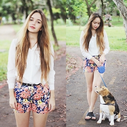 Ana Luísa Braun - Shorts, Shirt - Walking the dog | DIY Birken on my blog