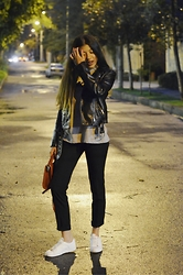 Silvia Fernandez - Zara Slacks, Zara Top, H&M Jacket - Midnight dreams