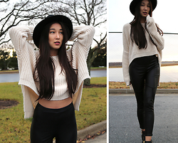 Kristina - Brixton Hat, Nasty Gal Leggings, Nicole Boots - Fly away with me