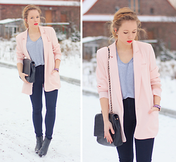 Wioletta Mary Kate - Romwe Basic T Shirt, Frontrowshop Blazer - ☆ Happy New Year Lookbookers ☆