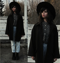 Sasha Karolik - Monki Hat, Dr. Martens Boots - Coffee Coat