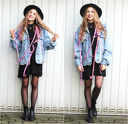 Lea . . . - Vintage Jacket, Gina Tricot Dress - BIRTHDAY GIRL!!!!