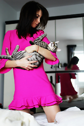 Gabriella Kovari - Grapes Boutique Pink Dress - #pink dress and Charlie