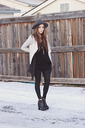 Breanne S. - Velvet Kimono Button Down Tunic, Steve Madden Booties - I want your photograph
