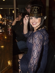 Mica Perry - Navy Lace Dress - Happy January 2nd!!!