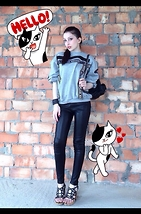 Lil Alina - Prada Wedges, Zara Leather Pants, Nasir Mazhar Sweater, Chanel Backpack - Playful Kitty