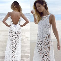 Friend in Fashion * - Sabo Skirt Lace Maxi - SUMMER LACE