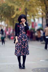 Eva Wang - Zara Floral Printed Dress, Vero Moda Mint Blazer, Nine West T Bar Pumps - Bloom boom
